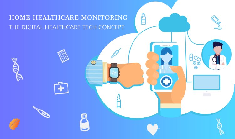 Home Health Monitoring – The Digital Healthcare Tech Concept